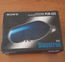 LOT OF 3.... Sony Glasstron PLM-A35 Personal LCD MonitorRetro Futuristic Goggles