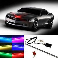 "7 Color 48 LED RGB Scanner Flash Car Strobe Knight Rider Kit 22"" Light Strip"