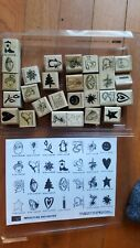 Stampin' Up! Rubber Stamps 1999 Miniature Favorite Set of 22