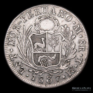.: Peru 8 reales 1837 TM - Nor Peruano  :.
