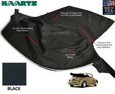 VW Volkswagen BUG, Beelte 1968-1972 Convertible Soft Top Black Stayfast Cloth