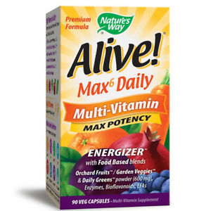 NATURES WAY - Alive Multi-Vitamin with Iron High Quality 90 Vegetarian Capsules