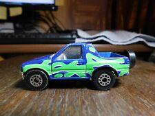 Car~Matchbox Isuzu Amigo, Blue w/ Green from Beach Fun