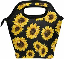 Wamika Sunflowers Retro Daisy Lunch Bag Boxes Cooler Thermal Tote Insulated