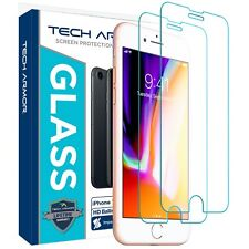 Tech Armor Ballistic Glass Screen Protector for Apple iPhone 7/8/6/6s [2-Pack]