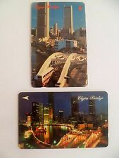 Set of 2 pcs. Singapore Telecom  Phonecard - Elgin Bridge (L-21)