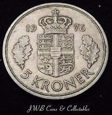 1976 Denmark 5 Kroner Coin