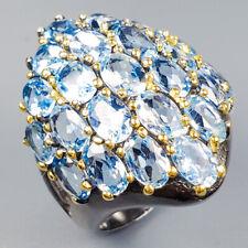 Vintage Natural Blue Topaz 925 Sterling Silver Ring Size 6.5/R120911