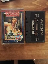 RAMBO III (3) - THE HIT SQUAD Release Commodore 64 128 Single Tape (HS)