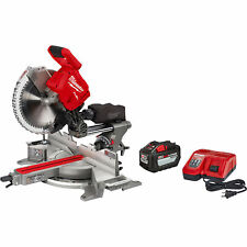Milwaukee M18 Fueltm 12in Dual Bevel Sliding Compound Miter Saw With 1 Key Kit