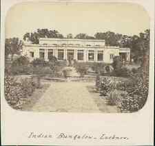India, Indian Bungalow at Lucknow  Vintage albumen print.  Tirage albuminé