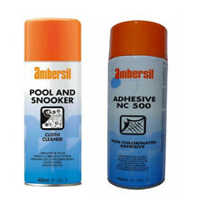 AMBERSIL POOL & SNOOKER TABLE CLOTH BAIZE CLEANER OR ADHESIVE