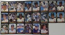1987 Donruss New York Yankees Team Set of 22 Baseball Cards Missing #175