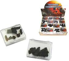 2 PKG TEKTITE MAGIC MOON ROCKS outer space healing stones NOVELTY BLACK ROCK NEW