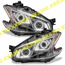 ORACLE Halo 2x HEADLIGHTS Non HID For Nissan Maxima 09-14 WHITE LED Angel Eyes