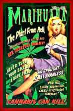*MARIJUANA PLANT FROM HELL* METAL SIGN 8X12 POT DOPE VINTAGE IMAGE DORM FUNNY