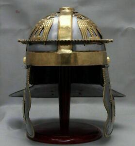 MEDIEVAL MART Steel & Brass Roman Gallic Centurion Ancient Helmet Replica