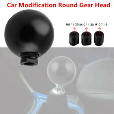 1x Car SUV Modification Gear Head Round Aluminum Black Shift Knob Boot Universal