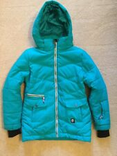 Orage Girls Ski Jacket Teal size 10 Down