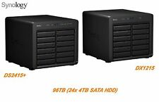 €4420+IVA SYNOLOGY NAS 96TB (24x4TB) DS2415+ / DX1215 Infiniband 24 Bays