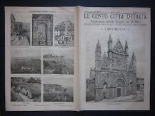 1897 ORVIETO Le Cento Città d'Italia Sonzogno riccamente illustrato