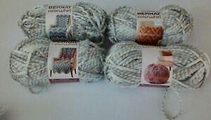 4 Skeins Bernat Colorwhirl yarn Seascape Super Bulky 6