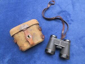RARE WW2 ORIGINAL JAPANESE MILITARY NCO 4X10 BINOCULARS AND CASE