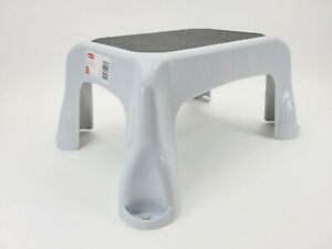 Rubbermaid Gray Step Stool 4B40 300 POUND Lightweight Sturdy Stepstool Brand New