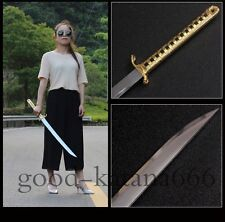 Hand Forge Chinese Sword Camping Daggers Manganese Steel PU Sheath Sharp Blade#A