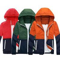 Men's Summer Coats Outdoor Sportwears Windbreaker Welcome Zip Up Hooded Jackets