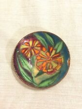 c1960s Lucille Cantini Signed Small Dish Enamel Over Copper Mid Century Art Deco