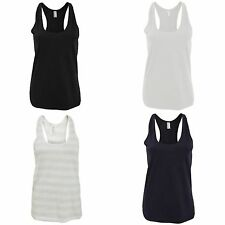 Women's Striped Crew Neck Vest Top, Strappy, Cami Tops & Shirts