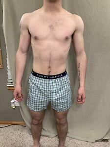 Men's Tommy Hilfiger Plaid Green/white/black Boxer Shorts Medium