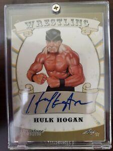 2016 HULK HOGAN Leaf Signature Wrestling WWE  Autograph Hulkamania Auto