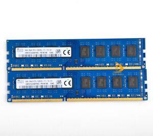 Für SK Hynix 16GB 2x 8GB 2Rx8 PC3-12800 DDR3 1600MHz DIMM Desktop-Speicher RAM &
