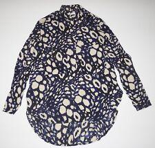 d40973d3d04 New Vans Womens San Juan Button Up Cotton Woven Tunic Shirt Blouse Medium
