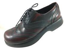 SH24 Dansko EUR 40 US 9.5-10 Brown Oxblood Leather Oxford Wingtip Shoes