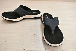 Clarks Wave2.0 Sea 26160689 Sandals, Women's Size 12M, Navy Leather NEW