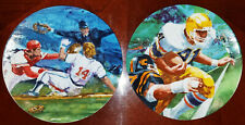 Football & Baseball Avon Moments Of Victory Collectors Plates 1985 Lot (2)
