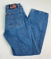 Ralph Lauren 8 Womens High Rise Bootcut Jeans Flag Patch Mom