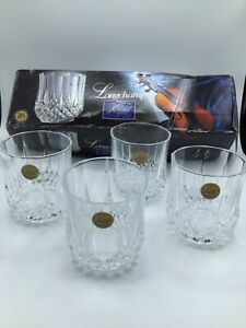 Longchamp Cristal D' Arques Set of 4 Double Old Fashioned Glasses