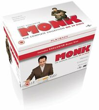 """MONK COMPLETE SERIES COLLECTION 1-8 DVD BOX SET 34 DISCS R4 """"NEW&SEALED"""""""