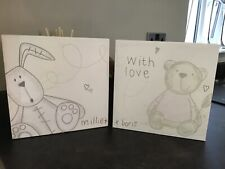 MAMAS AND PAPAS MILLIE AND BORIS CANVAS PICTURES