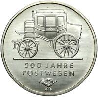 Gedenkmünze DDR - 5 Mark 1990 A - 500 Jahre Postwesen - Stempelglanz UNC