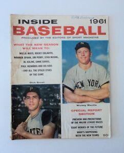 1961 Inside Baseball Magazine Yankees Mantle Pirates Groat -