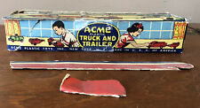 Antique 1950's Acme Plastic Toys Acme Truck and Trailer No 16 Empty Box Only