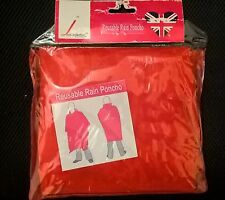 RAIN PONCHO for man  - RED LARGE SIZE UNUSED IN BAG ,