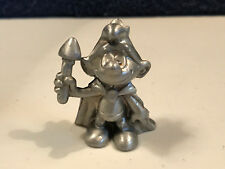 Smurfs Pewter Smurf King Rare Vintage Figurine Metal Collectible Figure 20074
