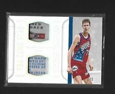 14-15 National Treasures NBA Game Gear Duals Prime Laundry Tags Shawn Bradley /5