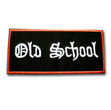 Old School Patch Iron on Chopper Biker Rider Retro Vest Cool Gothic Aufnäher V2